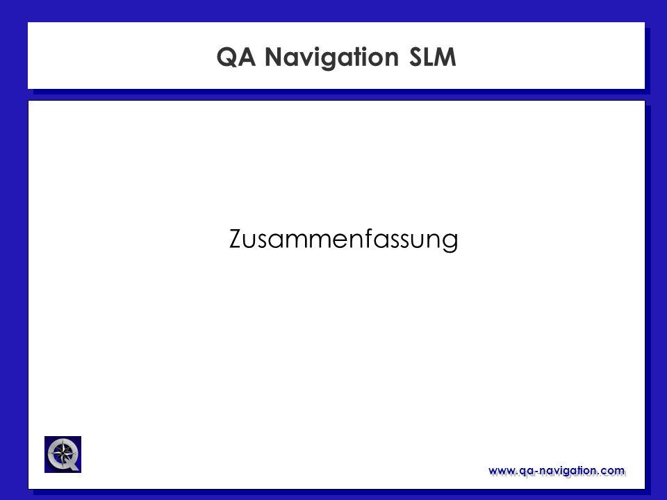www.qa-navigation.com QA Navigation SLM Zusammenfassung