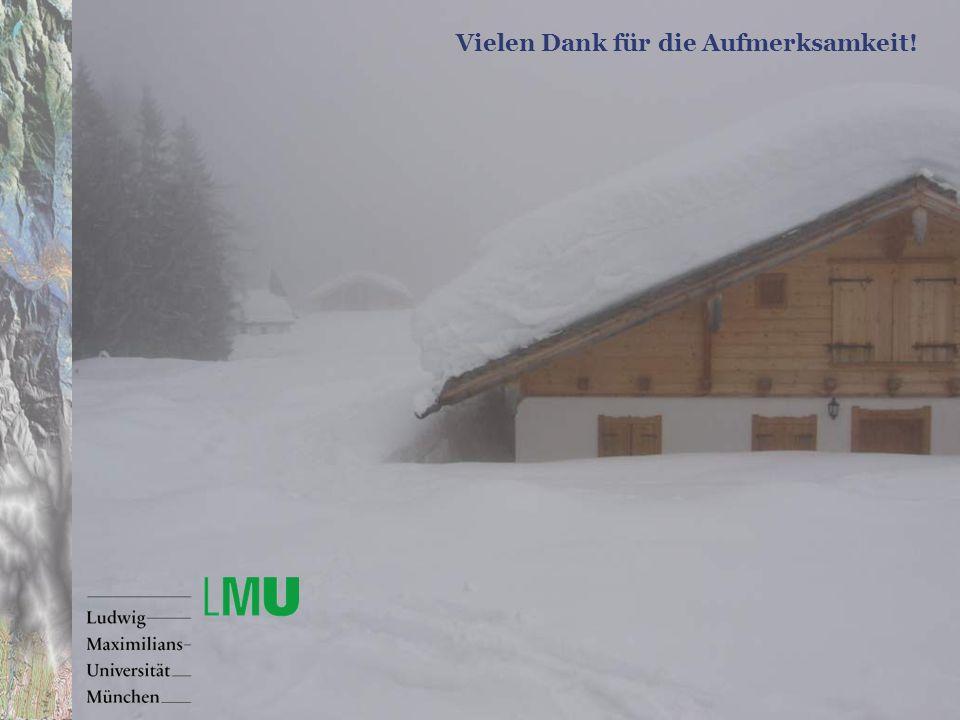 VKB Symposium Schnee – Risikovorsorge und Katastrophenmanagement18.01.2007 Vielen Dank für die Aufmerksamkeit!