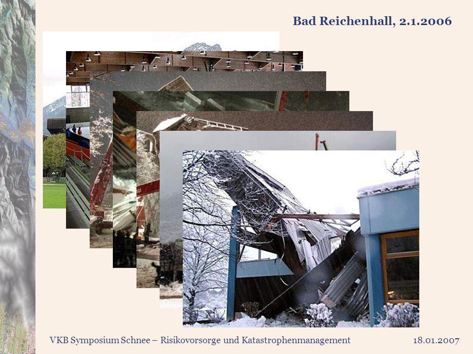 VKB Symposium Schnee – Risikovorsorge und Katastrophenmanagement18.01.2007 Bad Reichenhall, 2.1.2006