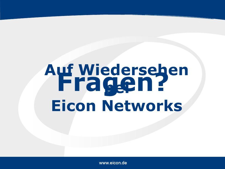 EN 16-MKT(Corporate) 2004 copyright ©. All rights reserved. www.eicon.de Fragen? Auf Wiedersehen bei Eicon Networks