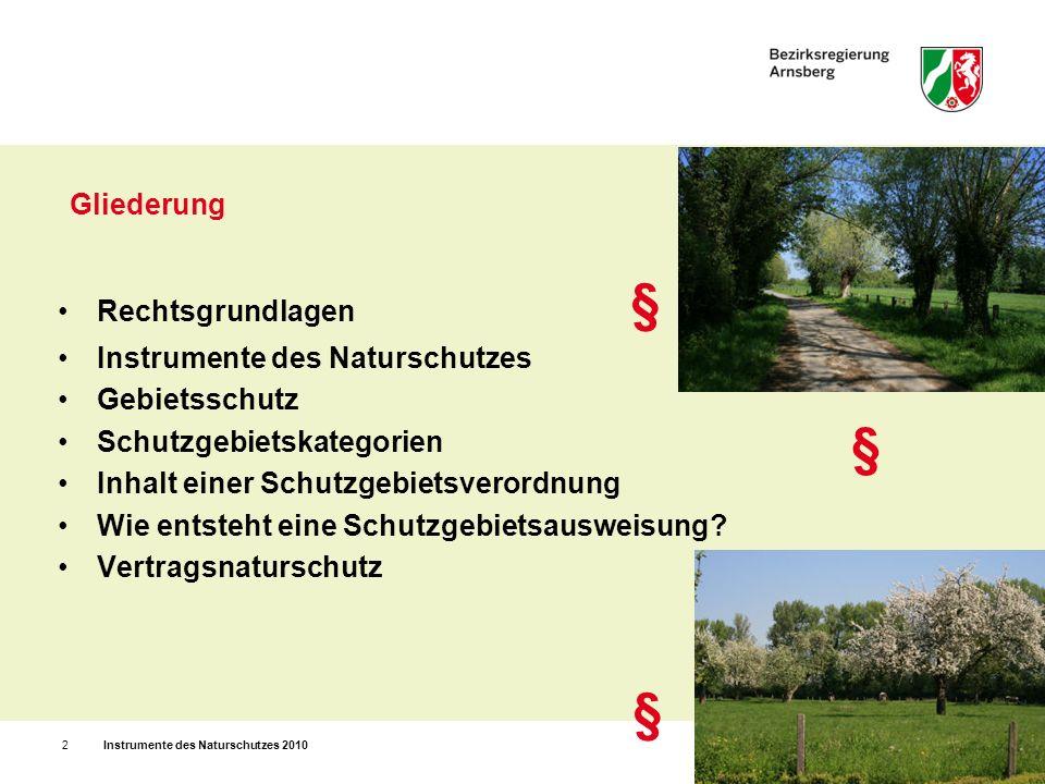 Rechtsgrundlagen Europäisches Recht: Arten- und Gebietsschutz (z.B.