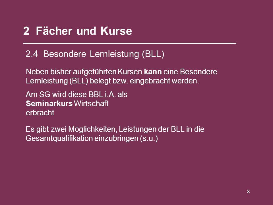 Seminarfach Wirtschaft Neue Art des Unterrichts 2 Hj.