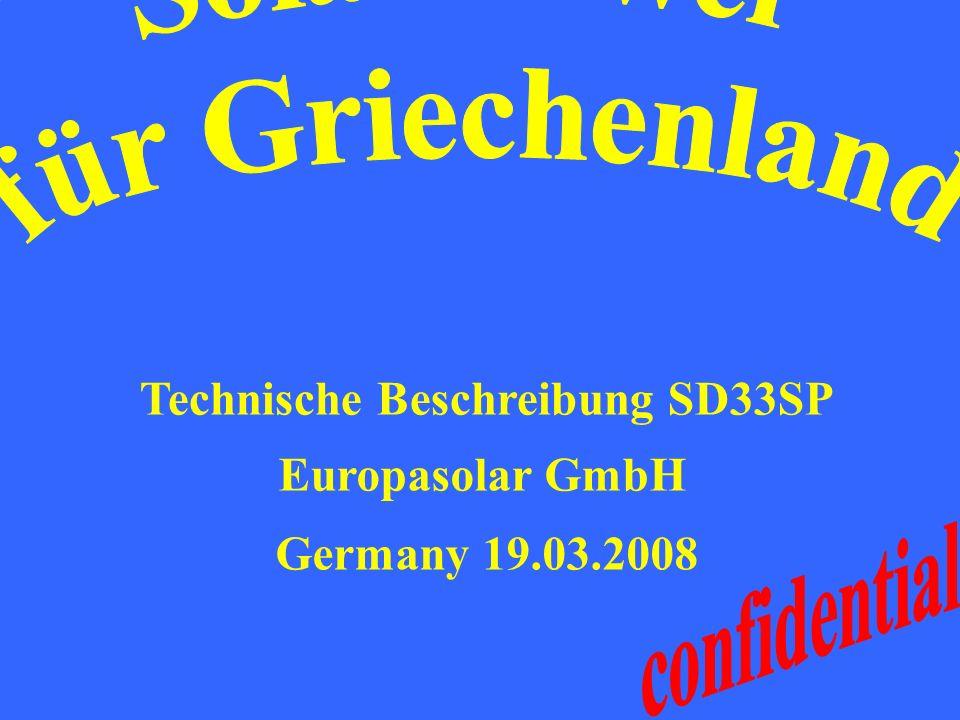 Technische Beschreibung SD33SP Europasolar GmbH Germany 19.03.2008