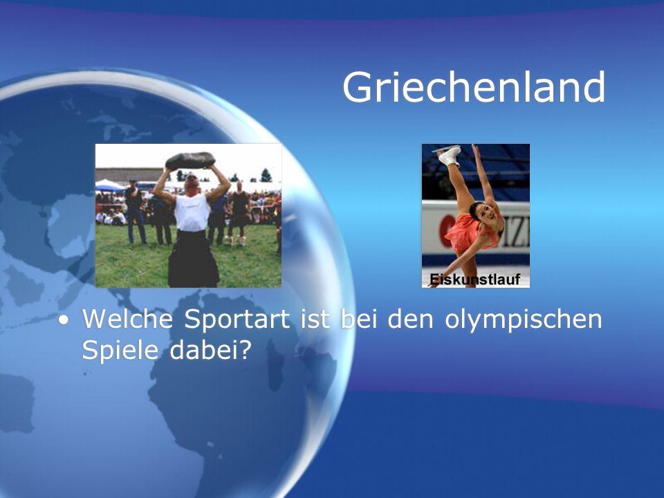 Griechenland Welche Sportart ist bei den olympischen Spiele dabei?