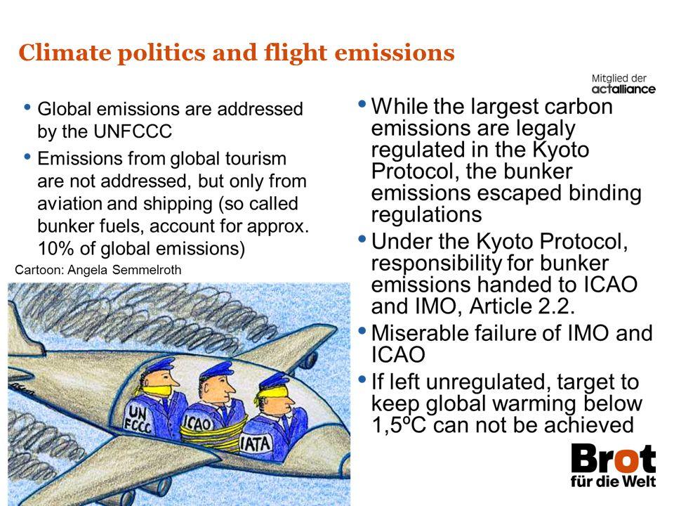 Brot für die Welt – Evangelischer Entwicklungsdienst Climate Justice and Aviation Seite 4 Climate politics and flight emissions
