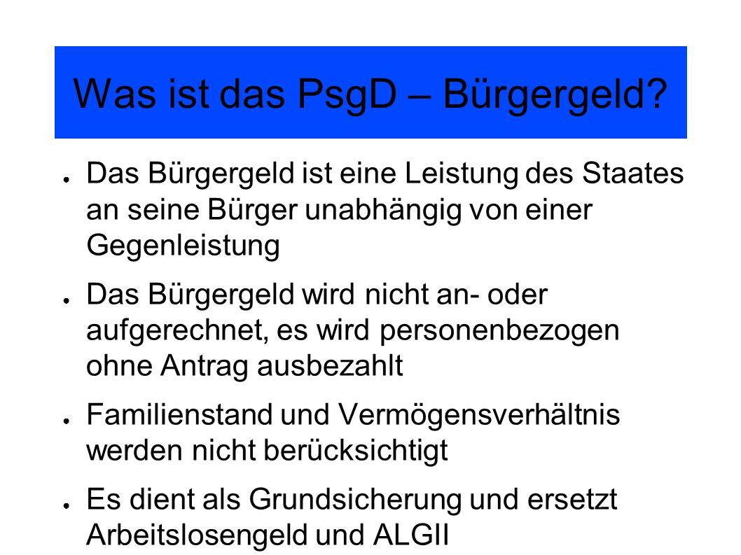 Was ist das PsgD – Bürgergeld.