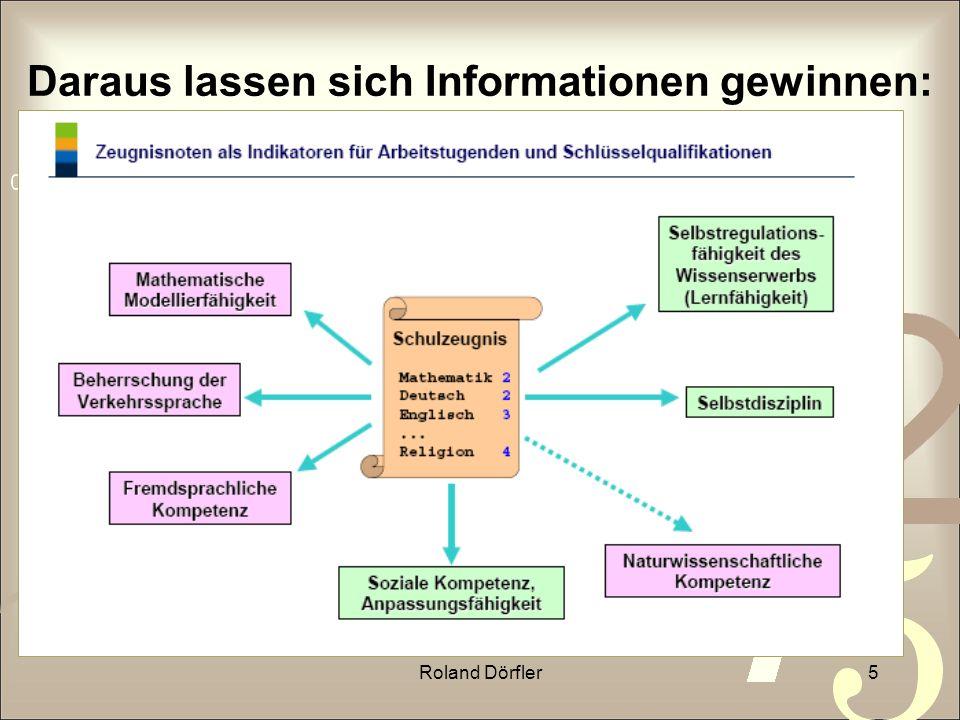 Roland Dörfler5 Daraus lassen sich Informationen gewinnen: