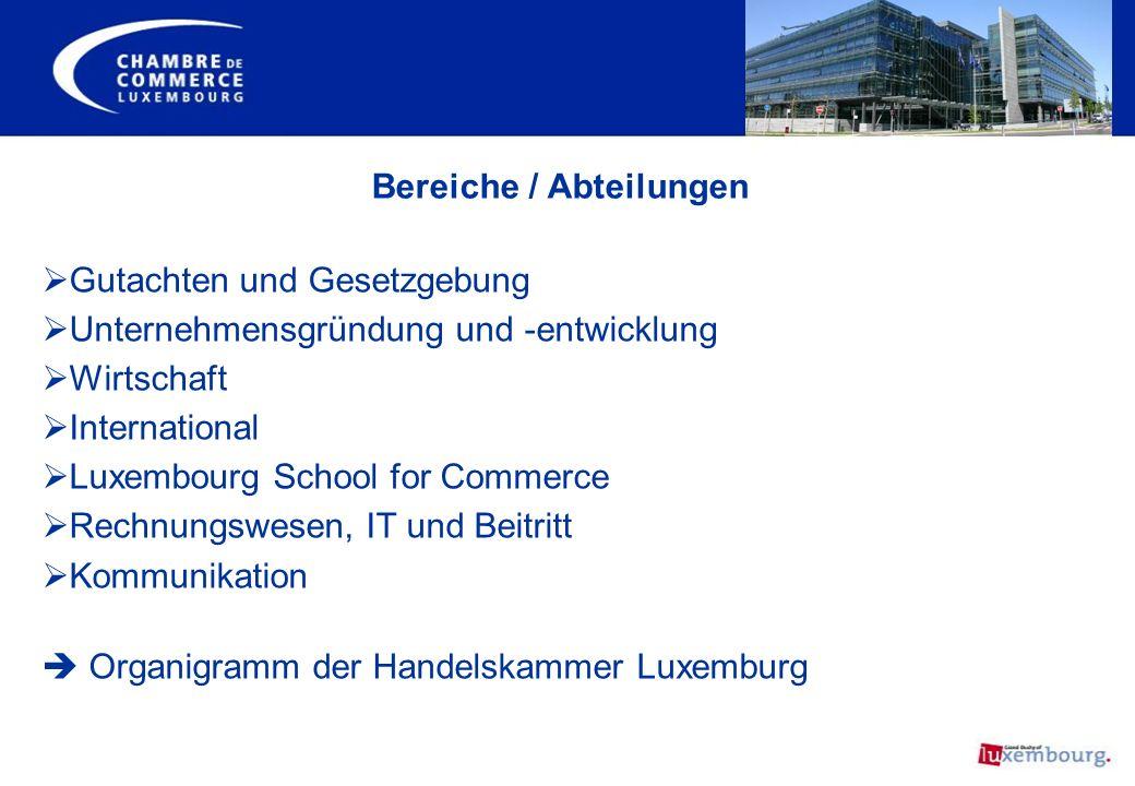 Gutachten und Gesetzgebung Unternehmensgründung und -entwicklung Wirtschaft International Luxembourg School for Commerce Rechnungswesen, IT und Beitri