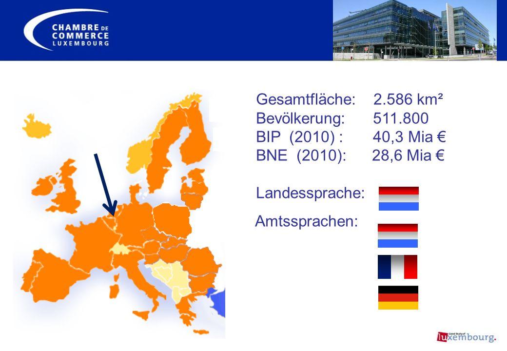 Luxemburg – Zusammensetzung der Bevölkerung Kultureller und sprachlicher Melting Pot Die Luxemburger stellen rund … : 57% der Bevölkerung 29% der Lohnempfänger 26% der Unternehmensgründer …dar.