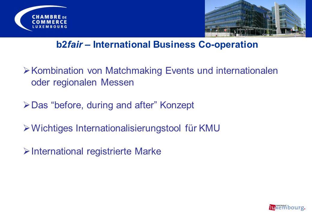 Kombination von Matchmaking Events und internationalen oder regionalen Messen Das before, during and after Konzept Wichtiges Internationalisierungstoo