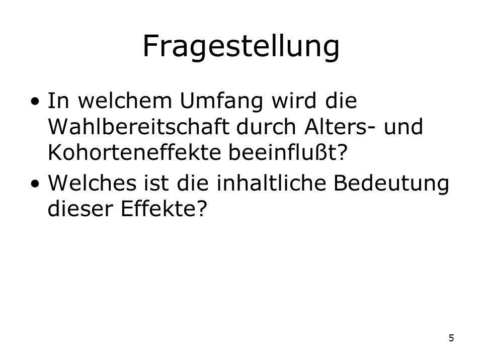 16 Datenbasis/Operationalisierung (westdeutsche) ALLBUS-Daten, 1980-2002 –ca.
