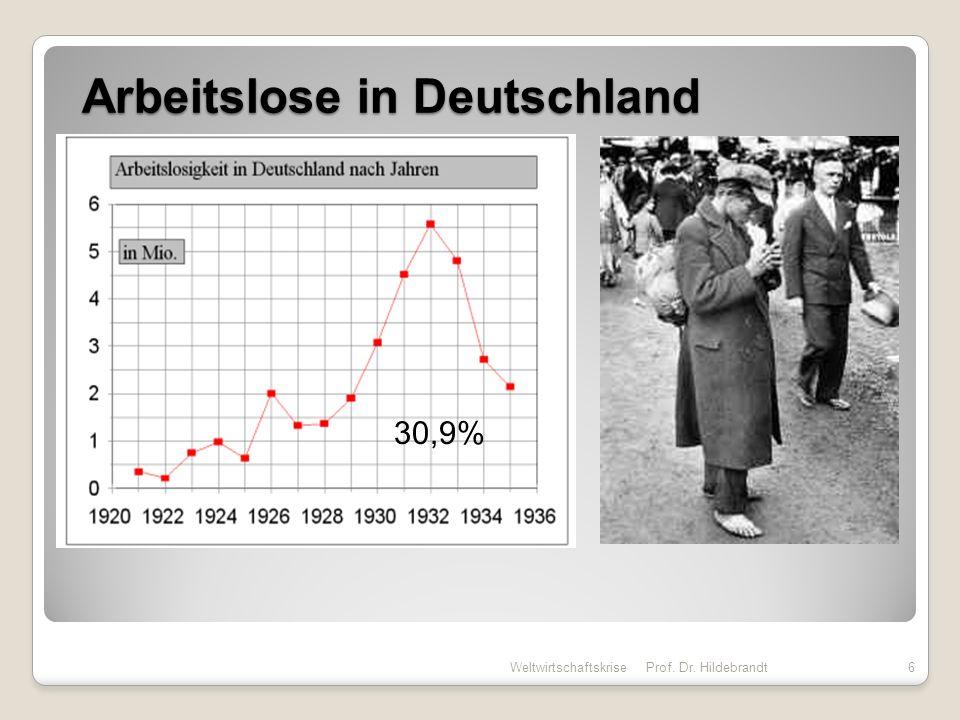 BSP in Deutschland Weltwirtschaftskrise Prof. Dr. Hildebrandt7