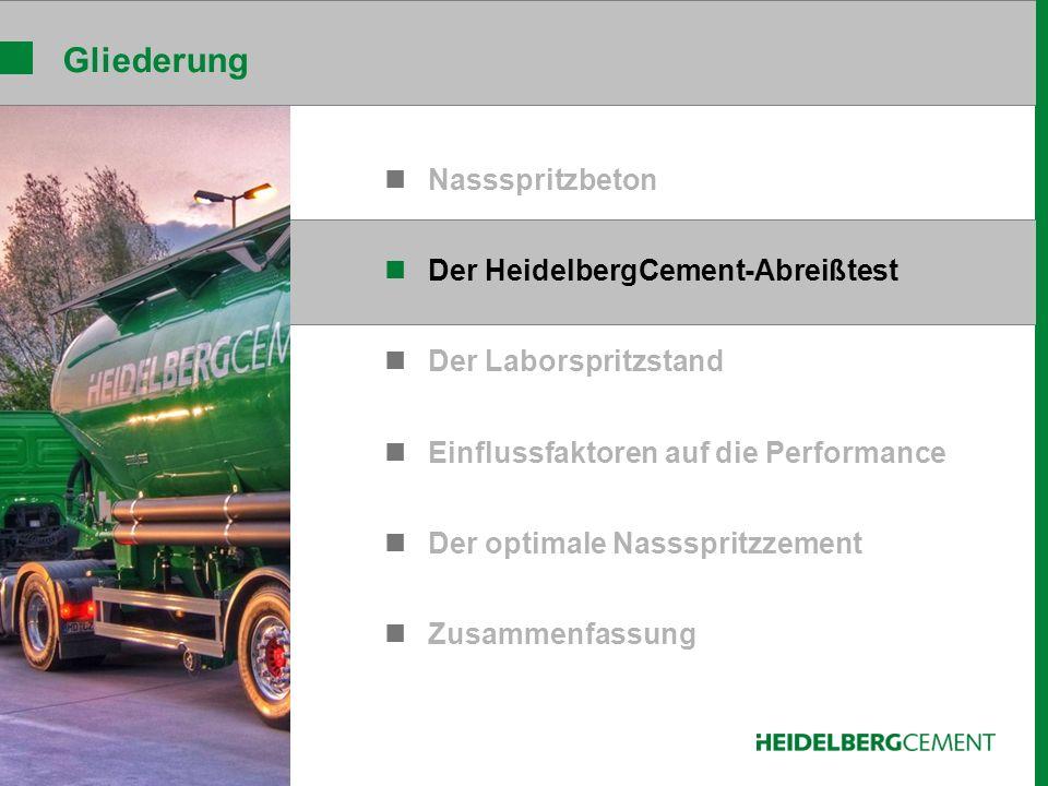 HeidelbergCement-Abreißtest Dissolver Dissolverrührer Becher Zementleim frei gelagerte Achse Elektromagnet