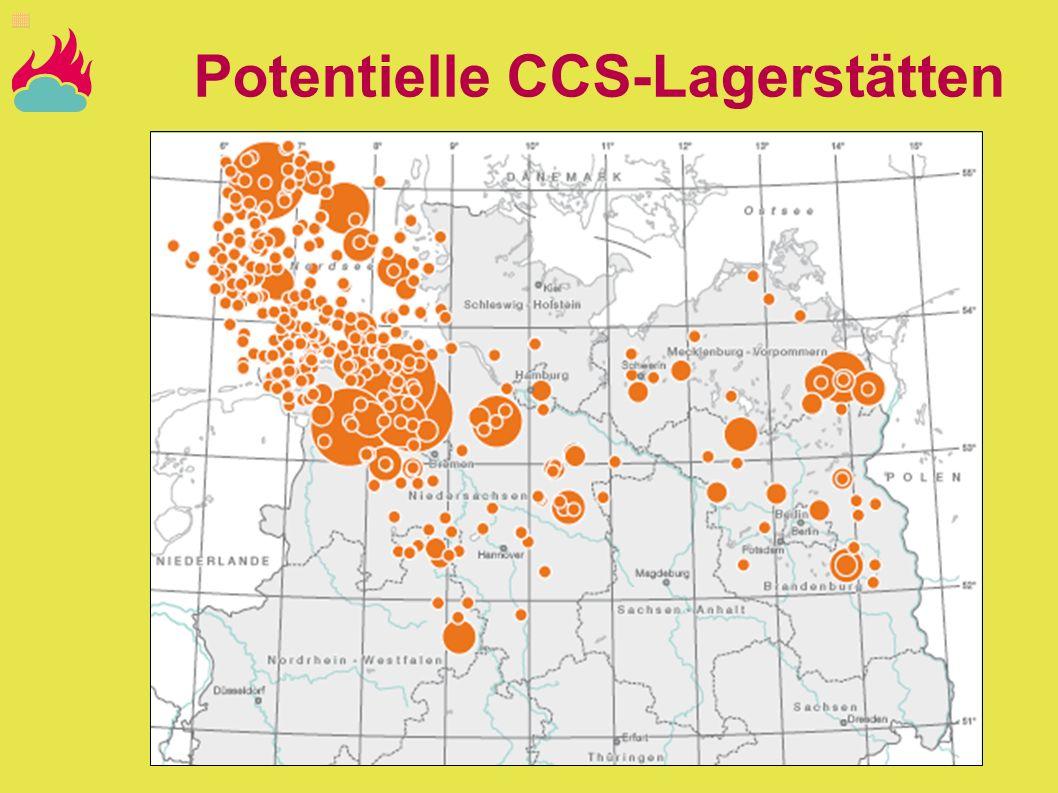 Potentielle CCS-Lagerstätten