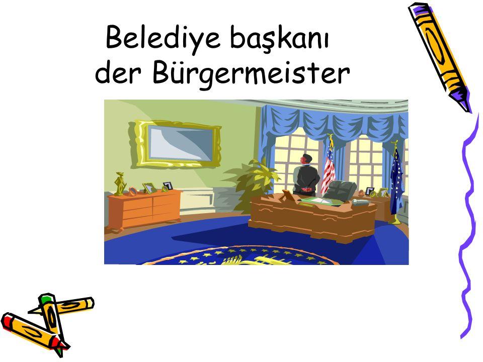 Belediye başkanı der Bürgermeister