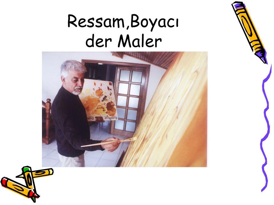 Ressam,Boyacı der Maler