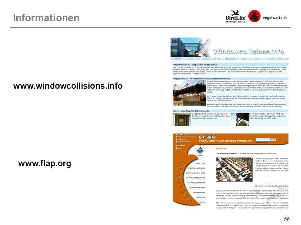 56 www.windowcollisions.info Informationen www.flap.org