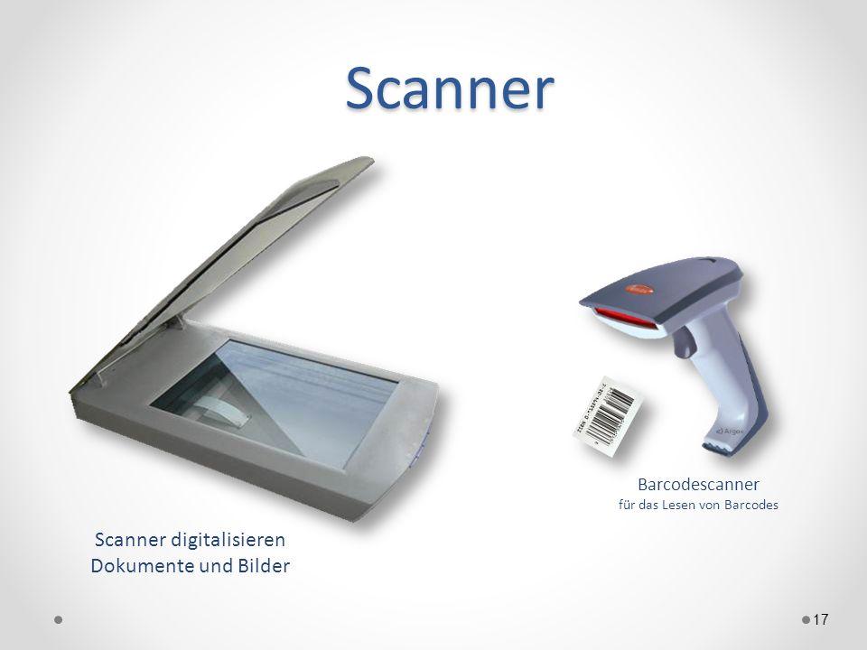 Scanner 17 Scanner digitalisieren Dokumente und Bilder Barcodescanner für das Lesen von Barcodes