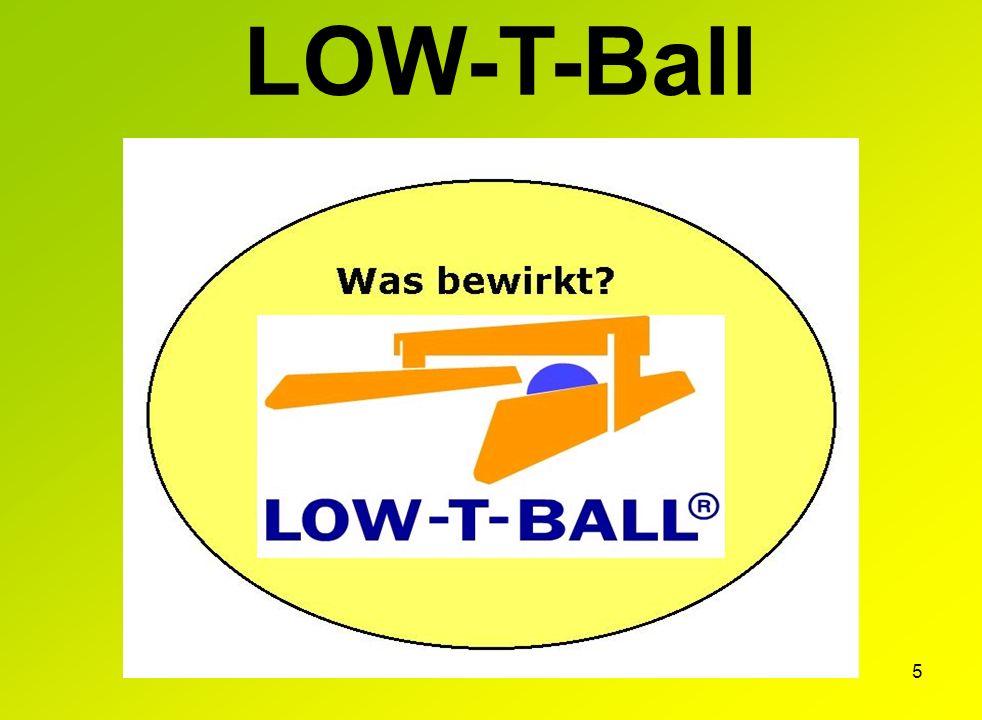 4 Die bisher fehlende, neue Stufe zum Erlernen des Tennisspiels LOW-T-Ball