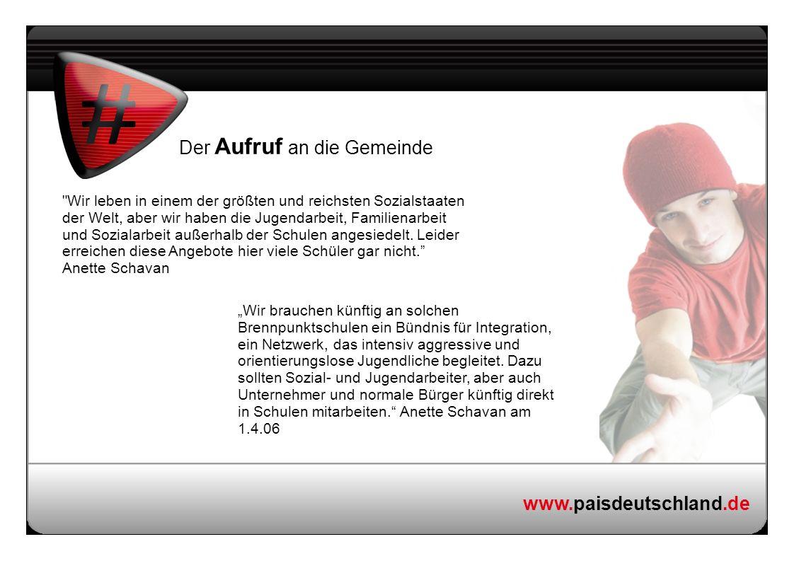 www.paisdeutschland.de Der Aufruf an die Gemeinde