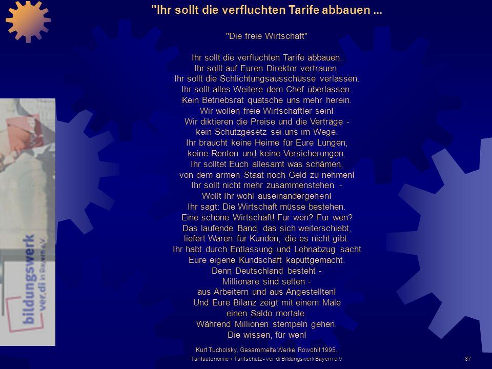 Tarifautonomie + Tarifschutz - ver.di Bildungswerk Bayern e.V87