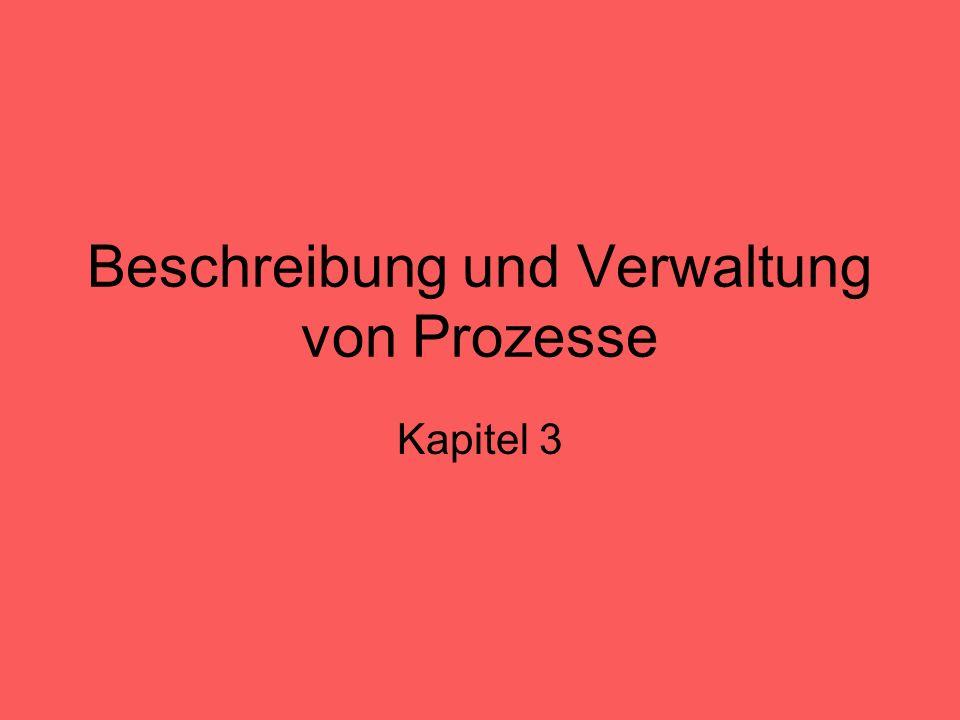 Beschreibung und Verwaltung von Prozesse Kapitel 3