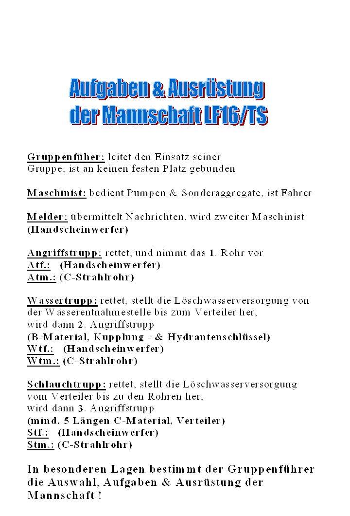 Einsatz mit Bereitstellung Löschwasserentnahmestelle: See Lage des Verteilers: Hofmitte Einheit: Auftrag: Mittel: Ziel: Weg: Zum Einsatz fertig Melder zu mir.