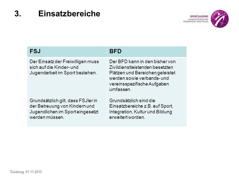 Duisburg, 01.11.2013 Sowohl das FSJ als auch der BFD unterstützen die Umsetzung der vier Programme des Landessportbundes NRW: NRW bewegt seine Kinder Bewegt gesund bleiben in NRW Bewegt älter werden in NRW Spitzensport fördern in NRW