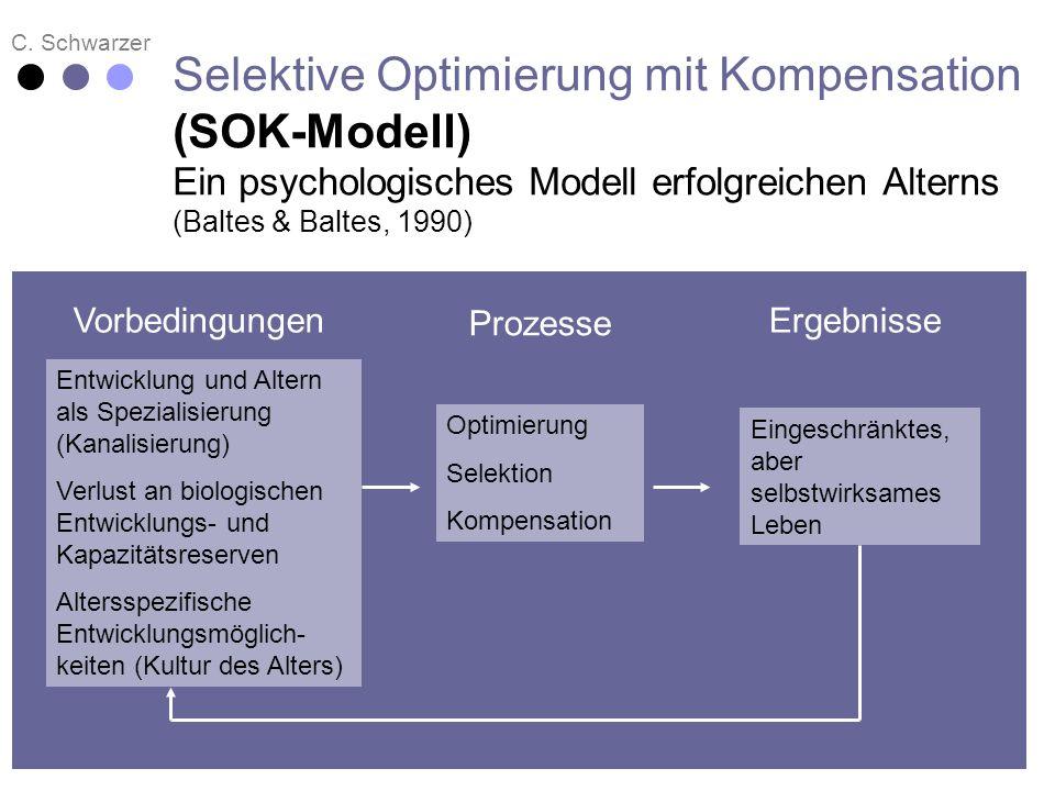 C. Schwarzer Selektive Optimierung mit Kompensation (SOK-Modell) Ein psychologisches Modell erfolgreichen Alterns (Baltes & Baltes, 1990) Entwicklung