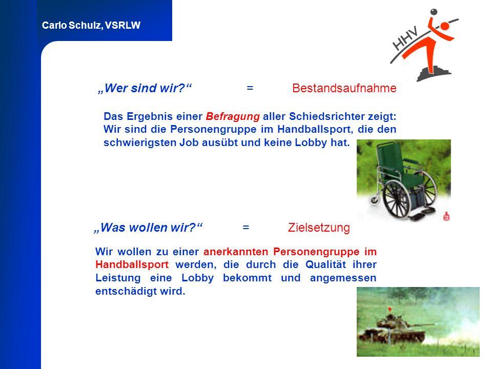 Carlo Schulz, VSRLW Wer sind wir? =Bestandsaufnahme Das Ergebnis einer Befragung aller Schiedsrichter zeigt: Wir sind die Personengruppe im Handballsp