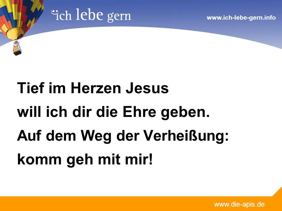 www.die-apis.de www.ich-lebe-gern.info Du allein kennst den Weg der Verheißung, Du allein hast ihn durchschritten als Mensch.