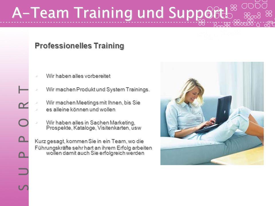 A-Team Training und Support! Professionelles Training Wir haben alles vorbereitet Wir haben alles vorbereitet Wir machen Produkt und System Trainings.