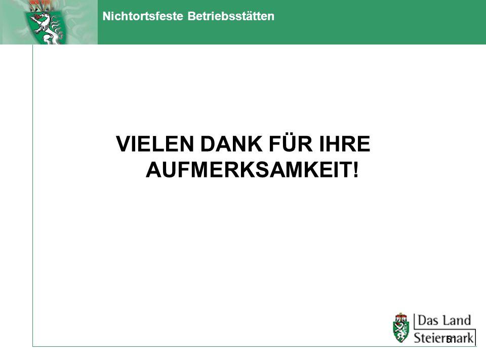 Nichtortsfeste Betriebsstätten VIELEN DANK FÜR IHRE AUFMERKSAMKEIT! 51