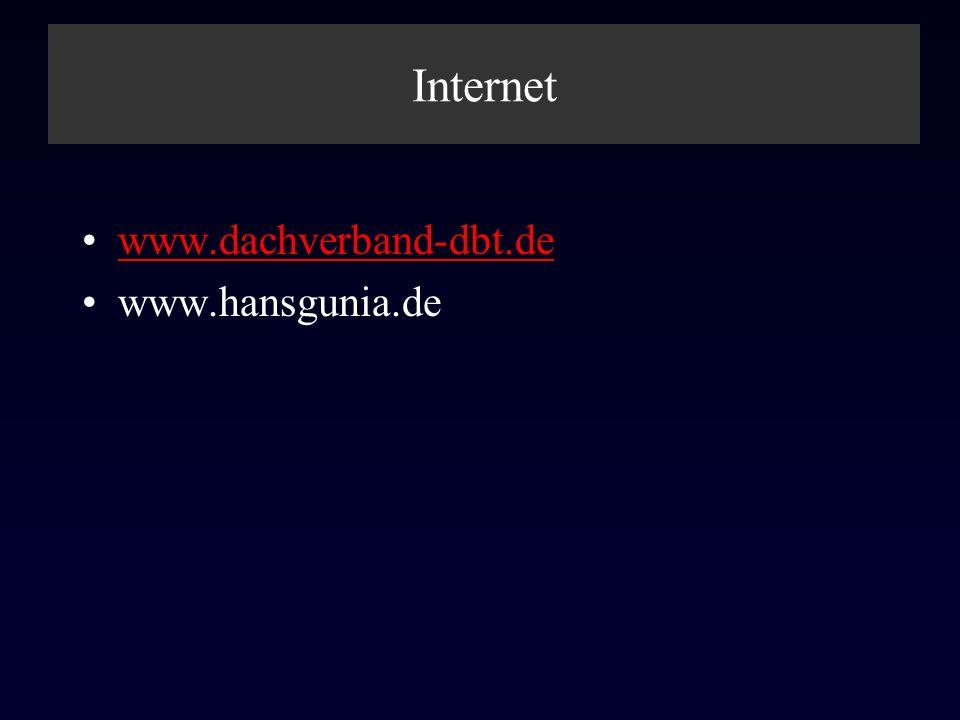 Internet www.dachverband-dbt.de www.hansgunia.de