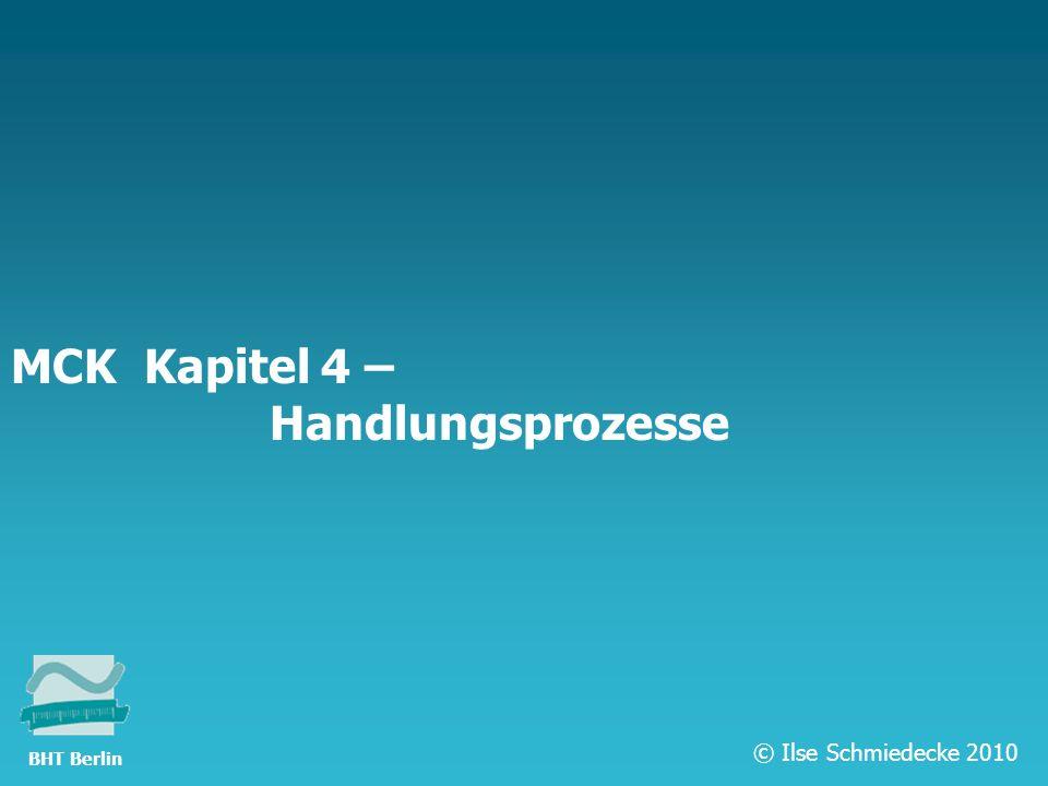 TFH Berlin MCK Kapitel 4 – Handlungsprozesse © Ilse Schmiedecke 2010 BHT Berlin