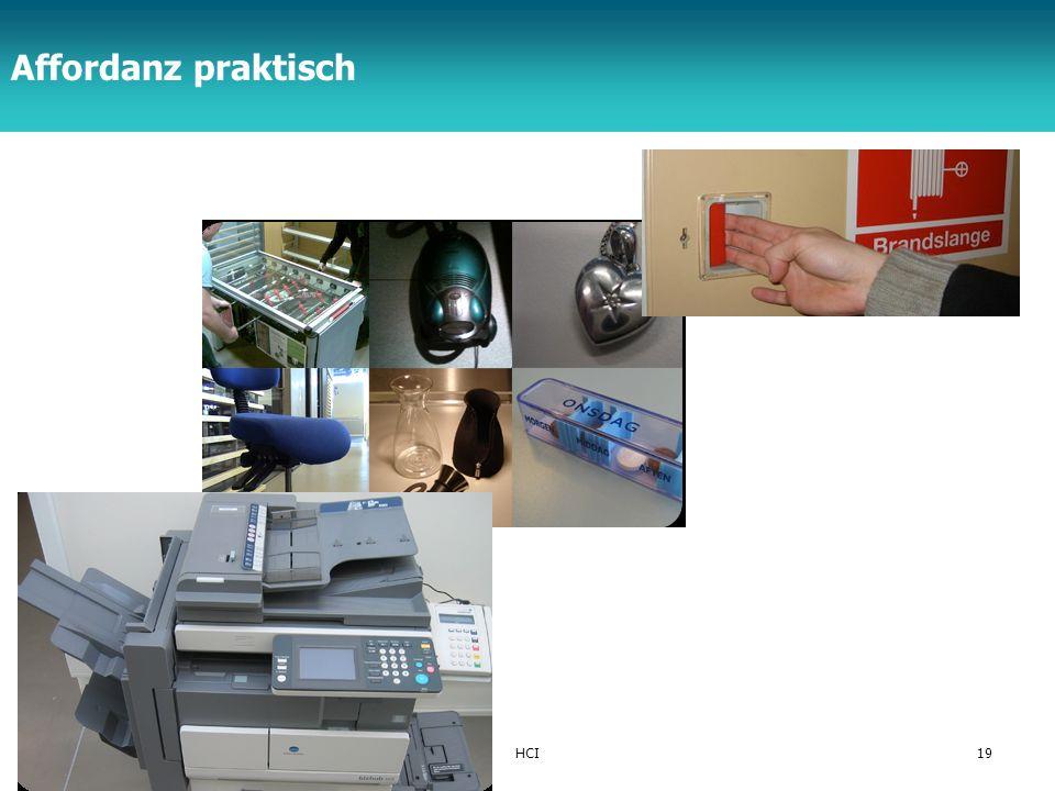 TFH Berlin © schmiedecke 08HCI19 Affordanz praktisch