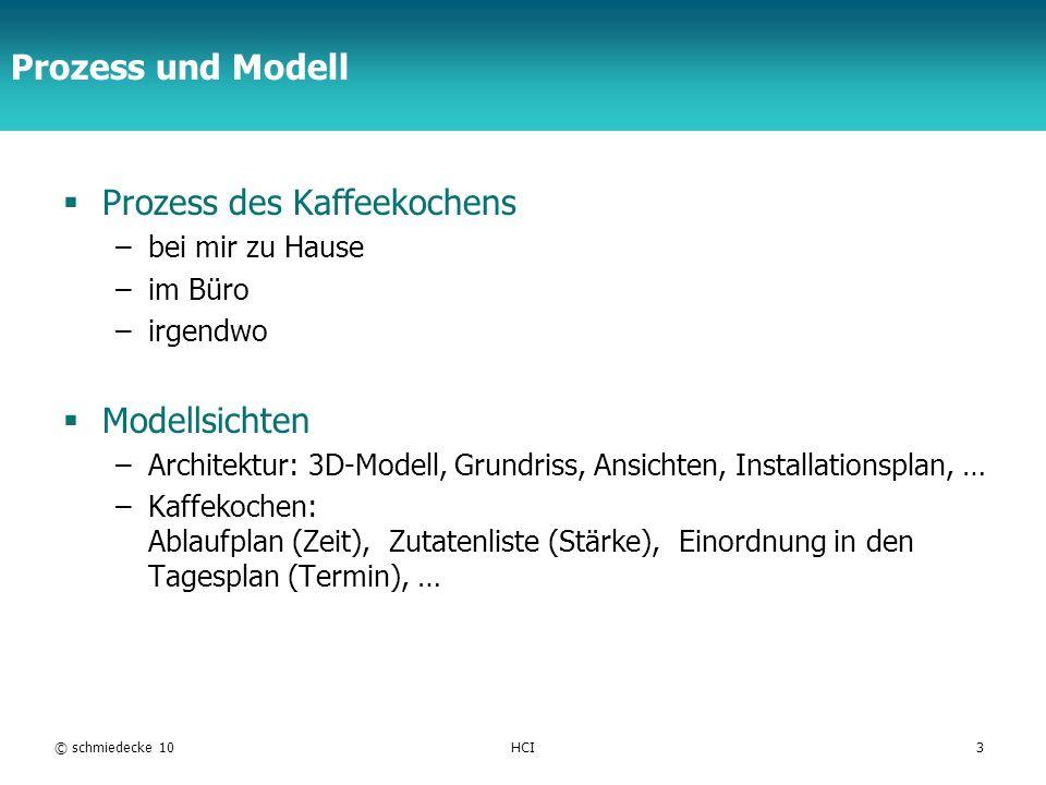 TFH Berlin © schmiedecke 08HCI24 Mentale Modelle Strukturierte Vorstellungen von einem Gebilde und dessen Verhalten.