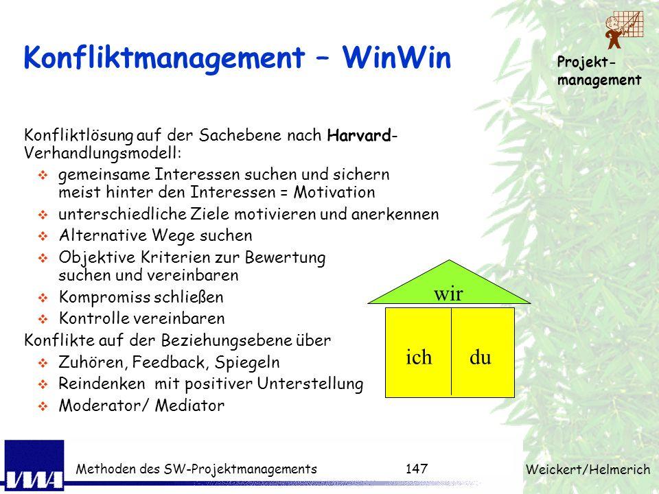 Projekt- management Weickert/Helmerich Methoden des SW-Projektmanagements146 Reaktionen auf Killerphrasen 1.