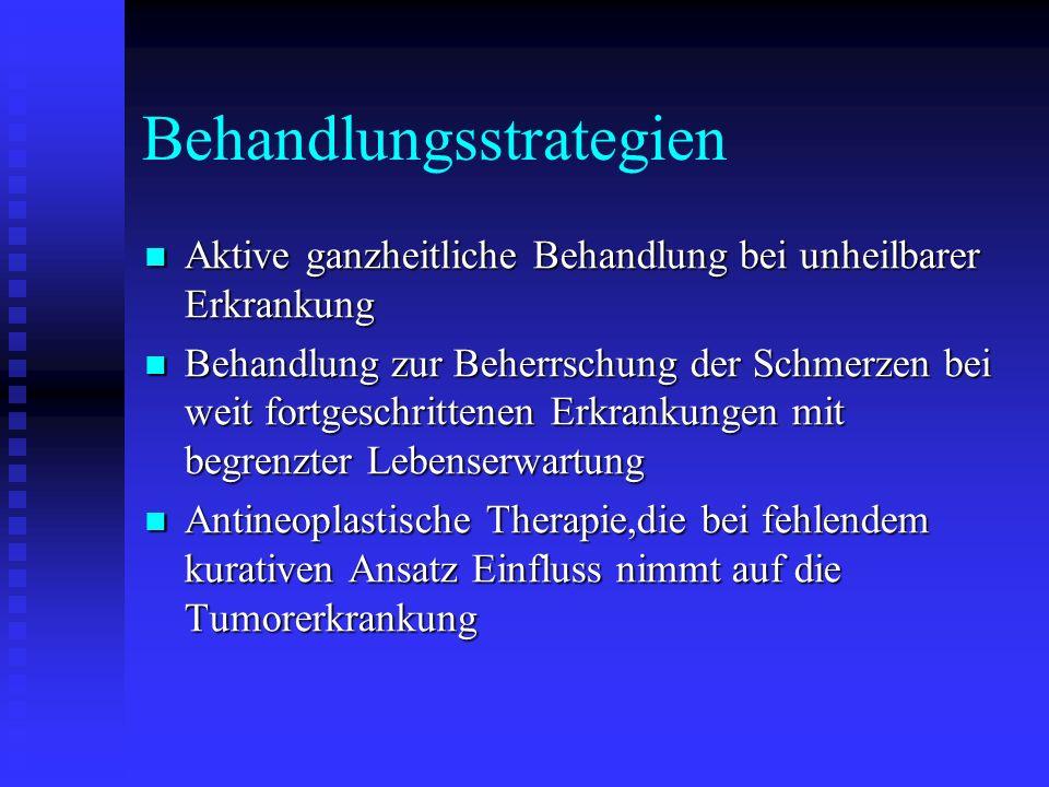 Behandlungsstrategien Aktive ganzheitliche Behandlung bei unheilbarer Erkrankung Aktive ganzheitliche Behandlung bei unheilbarer Erkrankung Behandlung