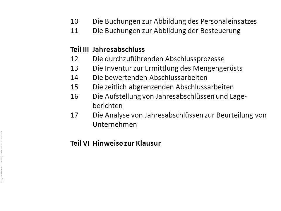 Copyright © 2011 Schäffer-Poeschel Verlag für Wirtschaft · Steuern · Recht GmbH BuJa-d7EgcYoE5_Copyright_Schäffer-Poeschel_Verlag 10Die Buchungen zur