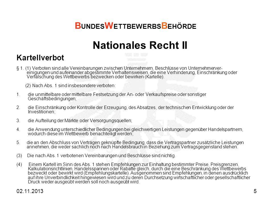Nationales Recht III Missbrauchsverbot § 5.