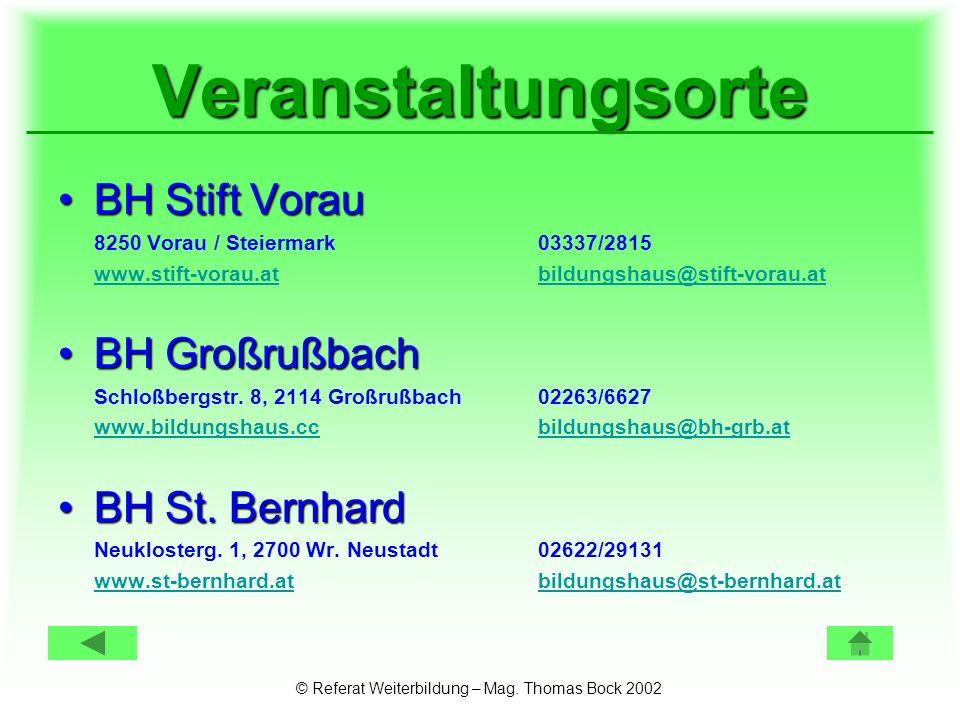 © Referat Weiterbildung – Mag.