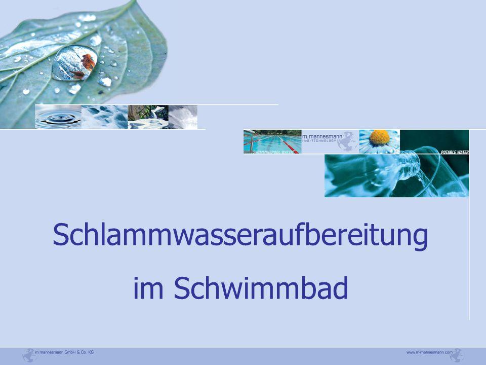 Schlammwasseraufbereitung im Schwimmbad