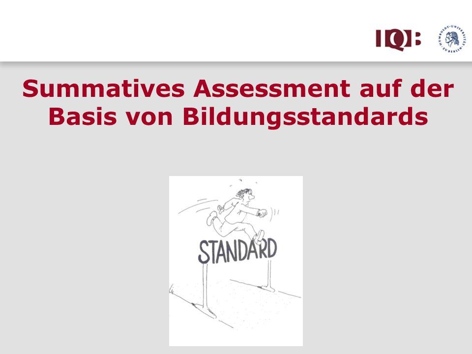 Summatives Assessment auf der Basis von Bildungsstandards