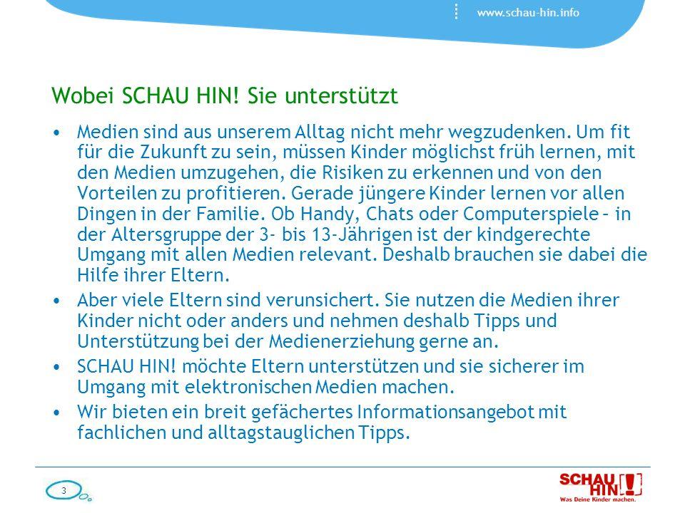 4 www.schau-hin.info Wobei SCHAU HIN.