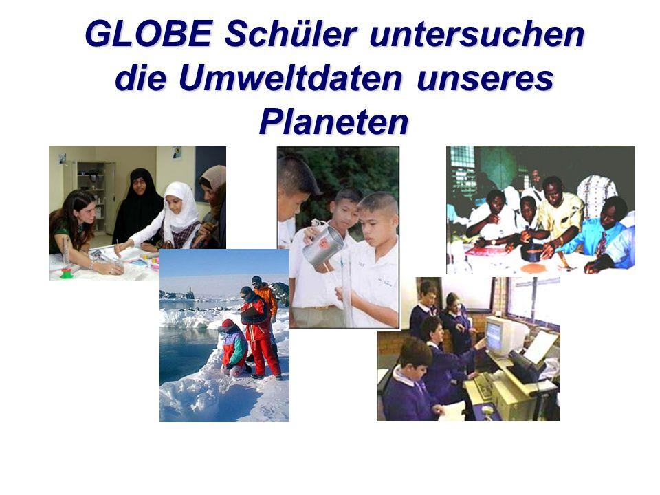 Schüler/innen können ihre Ergebnisse auf der GLOBE- Website veröffentlichen.