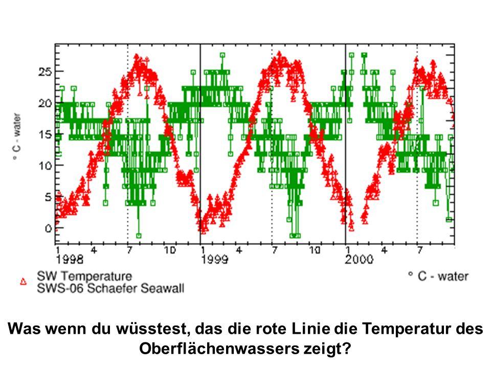 Was wenn du wüsstest, das die rote Linie die Temperatur des Oberflächenwassers zeigt?