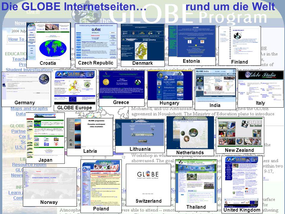 Poland Italy Greece Netherlands Switzerland New Zealand Japan Latvia GLOBE Europe Germany Hungary Norway Thailand India Lithuania United Kingdom Die G