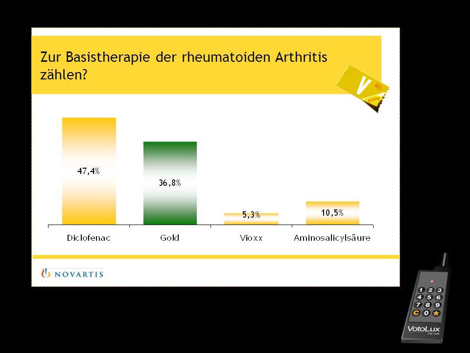 Zur Basistherapie der rheumatoiden Arthritis zählen?