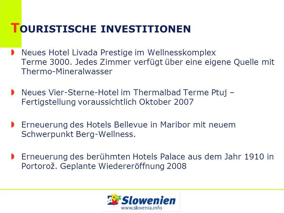 T OURISTISCHE INVESTITIONEN Neues Hotel Livada Prestige im Wellnesskomplex Terme 3000. Jedes Zimmer verfügt über eine eigene Quelle mit Thermo-Mineral